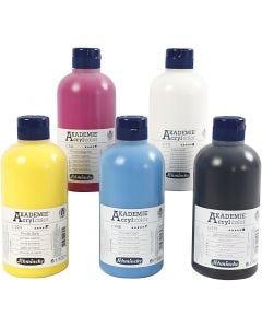 Schmincke AKADEMIE® Acryl color, 5x500 ml/ 1 pk.