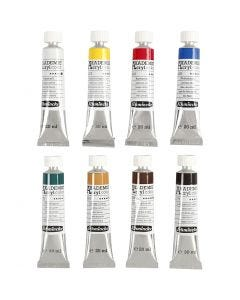 Schmincke AKADEMIE® Acryl color, 8x20 ml/ 1 pk.