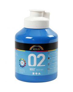 Skole akrylmaling mat, mat, primær blå, 500 ml/ 1 fl.