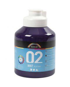 A-Color akrylmaling, mat, violet, 500 ml/ 1 fl.