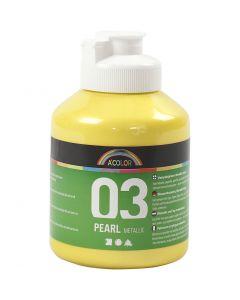 A-Color akrylmaling, metallic, gul, 500 ml/ 1 fl.