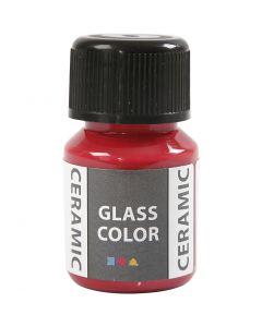 Glass Ceramic, karminrød, 35 ml/ 1 fl.