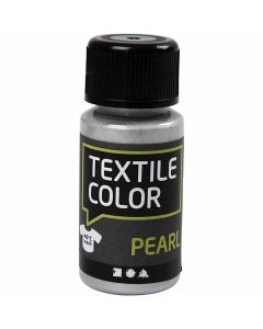Textile Color, perlemor, sølv, 50 ml/ 1 fl.