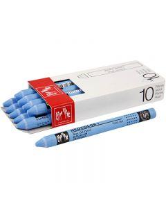 Neocolor I, L: 10 cm, tykkelse 8 mm, light blue (161), 10 stk./ 1 pk.