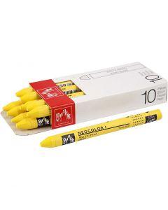 Neocolor I, L: 10 cm, tykkelse 8 mm, yellow (010), 10 stk./ 1 pk.