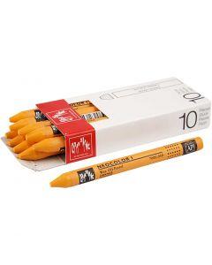 Neocolor I, L: 10 cm, tykkelse 8 mm, orange (030), 10 stk./ 1 pk.