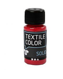 Textile Solid, dækkende, rød, 50 ml/ 1 fl.