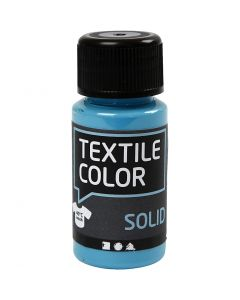 Textile Solid, dækkende, turkisblå, 50 ml/ 1 fl.