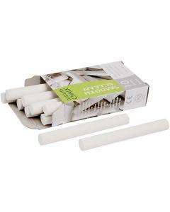 Tavlekridt, L: 8 cm, diam. 10 mm, hvid, 10x10 stk./ 1 pk.
