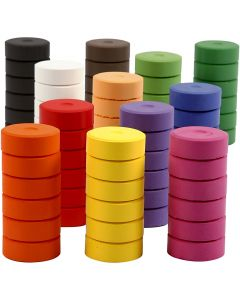 Vandfarve, H: 16 mm, diam. 44 mm, refill, 72 stk./ 1 pk.
