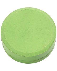Vandfarve, H: 19 mm, diam. 57 mm, grøn, 6 stk./ 1 pk.