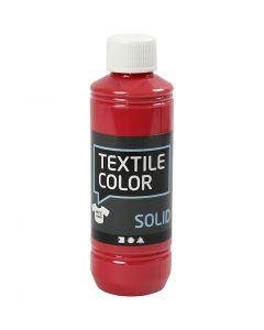 Textile Solid, dækkende, rød, 250 ml/ 1 fl.