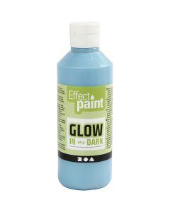 Selvlysende maling, fluorescerende lys blå, 250 ml/ 1 fl.