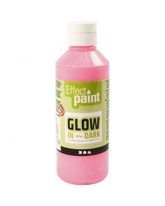 Selvlysende maling, fluorescerende lys rød, 250 ml/ 1 fl.