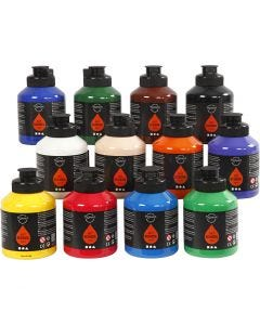 Pigment Art School, standardfarver, 12x500 ml/ 1 ks.