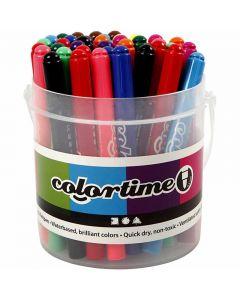 Colortime Tusch, streg 5 mm, ass. farver, 42 stk./ 1 pk.