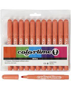 Colortime Tusch, streg 5 mm, mandarin, 12 stk./ 1 pk.