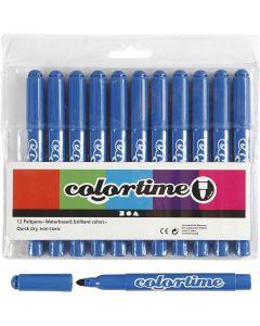 Colortime Tusch, streg 5 mm, azure, 12 stk./ 1 pk.