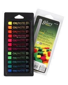 Gallery Oliepastel, L: 7 cm, tykkelse 11 mm, neonfarver, 12 stk./ 1 pk.