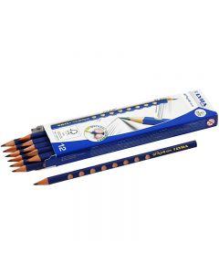 Groove Graphite blyant, diam. 7,2 mm, hårdhed HB, mine 3,3 mm, 12 stk./ 1 pk.