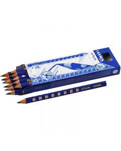 Groove Graphite blyant, diam. 10 mm, hårdhed B, mine 4,25 mm, 12 stk./ 1 pk.