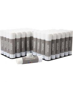 White Limstift , 48 stk./ 1 pk., 10 g