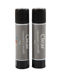 Clear limstift, rund, 2 stk./ 1 pk.