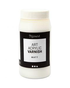 Art Acrylic slutfernis, mat, mat transparent, hvid, 500 ml/ 1 ds.
