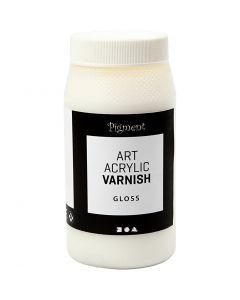 Art Acrylic slutfernis, blank transparent, hvid, 500 ml/ 1 ds.