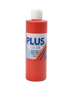 Plus Color hobbymaling, brilliant red, 250 ml/ 1 fl.