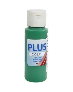 Plus Color hobbymaling, brilliantgrøn, 60 ml/ 1 fl.