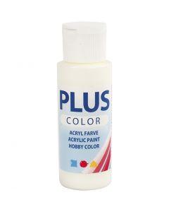 Plus Color hobbymaling, råhvid, 60 ml/ 1 fl.