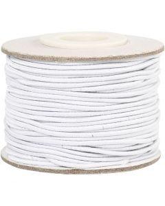 Elastiksnor, tykkelse 1 mm, hvid, 25 m/ 1 rl.