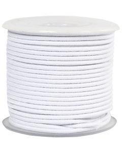 Elastiksnor, tykkelse 2 mm, hvid, 25 m/ 1 rl.