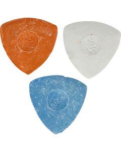 Skrædderkridt, diam. 5,5 cm, blå, rød, hvid, 3 stk./ 1 pk.
