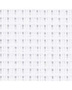 Aidastof, str. 50x50 cm, 24 tern pr. 10 cm, hvid, 1 stk.