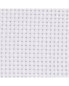 Aidastof, str. 50x50 cm, 43 tern pr. 10 cm, hvid, 1 stk.