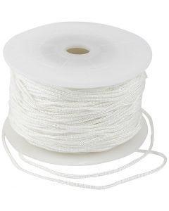 Knyttesnor, tykkelse 2 mm, hvid, 50 m/ 1 rl.
