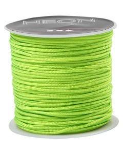 Knyttesnor, tykkelse 1 mm, neon grøn, 28 m/ 1 rl.