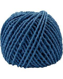Papirgarn, tykkelse 2,5-3 mm, mørk blå, 40 m/ 1 ngl.