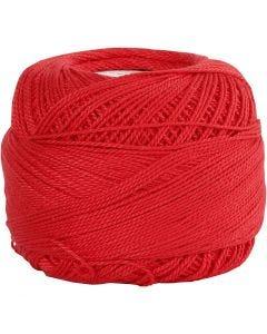 Merceriseret bomuldsgarn, rød, 20 g/ 1 ngl.