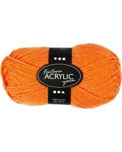Fantasia Polyacrylgarn, L: 80 m, neon orange, 50 g/ 1 ngl.