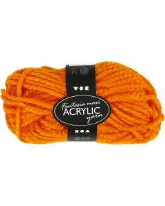 Fantasia Polyacrylgarn, L: 35 m, str. maxi , neon orange, 50 g/ 1 ngl.