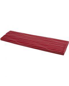 Stof, B: 145 cm, 140 g, rød/hvid, 10 m/ 1 rl.