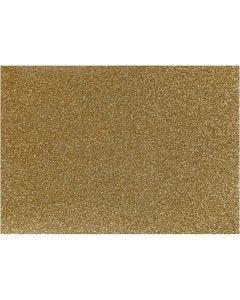 Strygestof, 148x210 mm, glitter, guld, 1 ark