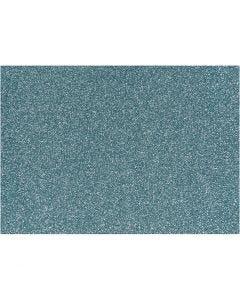Strygestof, 148x210 mm, glitter, lyseblå, 1 ark