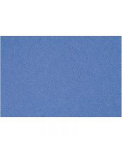 Hobbyfilt, 42x60 cm, tykkelse 3 mm, blå, 1 ark