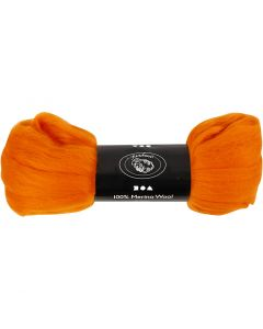 Uld, tykkelse 21 my, orange, 100 g/ 1 pk.