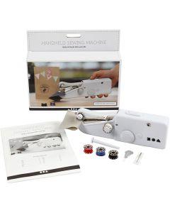 Håndsymaskine, H: 6,7 cm, L: 20,5 cm, B: 3,5 cm, hvid, 1 stk.