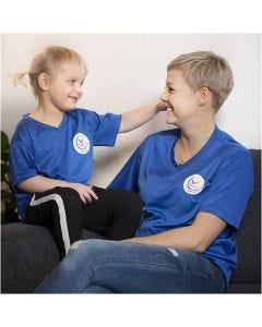 T-shirt, Danske Hospitalsklovne, B: 45 cm, str. XS , blå, 1 stk.